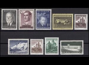 1031-1039 Österreich-Jahrgang 1957 komplett, postfrisch