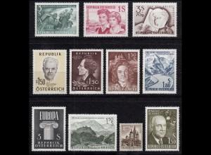 1073-1083 Österreich-Jahrgang 1960 komplett, postfrisch