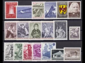 1084-1102 Österreich-Jahrgang 1961 komplett, postfrisch