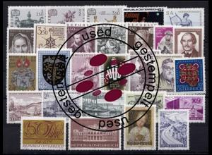 1353-1380 Österreich-Jahrgang 1971 komplett, gestempelt