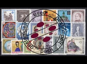 1664-1694 Österreich-Jahrgang 1981 komplett, gestempelt