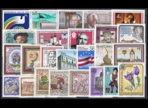 1836-1872 Österreich-Jahrgang 1986 komplett, postfrisch