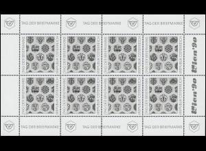Schwarzdruck 1990 Tag der Briefmarke - 8 Werte als Kleinbogen