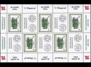 2345 Tag der Briefmarke 2001 - kompletter Kleinbogen mit Zierfeldern, postfrisch