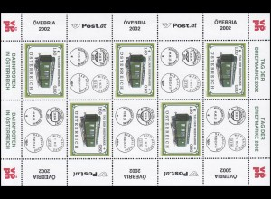 2380 Tag der Briefmarke 2002 - kompletter Kleinbogen mit Zierfeldern, postfrisch