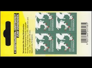 3317 Heraldik Steiermark - Folienblatt mit 4mal 210 Cent, postfrisch **