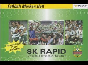 Österreich Fußball Marken.Heft MH 6 SV Rapid 2006, **
