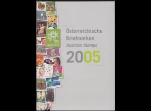 Jahreszusammenstellung der Österreichischen Post 2005 ** postfrisch