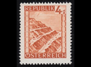 739 Landschaften 4 g Erzberg/Steiermark, postfrisch **
