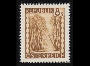 742 Landschaften 8 g ocker, Praterallee /Wien, postfrisch **