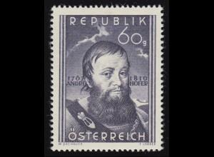 949 140. Todestag, Andreas Hofer (1767-1810) Freiheitskämpfer, 60 g, **