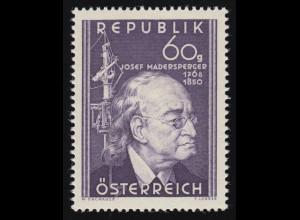 951 100. Todestag, Josef Madersperger (1768-1850) Erf. Nähmaschine, 60 g, **