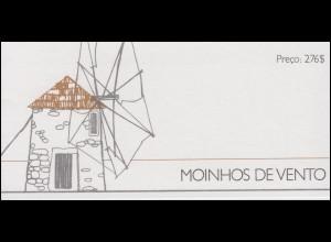 Portugal-Markenheftchen 5 Windmühlen 1989, postfrisch