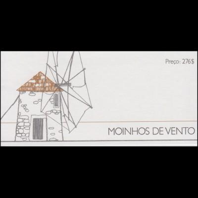 Portugal-Markenheftchen Nr. 5 - Windmühlen, Ausgabe 1989, postfrisch **