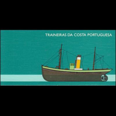 Portugal-Markenheftchen 10 Küstenfischerei Schleppnetzschiffe 1993, postfrisch