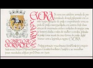 Portugal-Markenheftchen 1708 BuS Kastell Evora-Monte, postfrisch