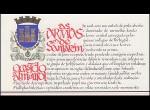 Portugal-Markenheftchen 1740 BuS Kastell Almourol, ESSt 19.1.88
