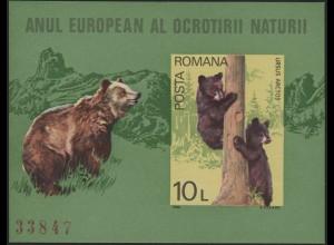 Block 168 Braunbären, Mitläufer-Ausgabe Rumänien 1980, **