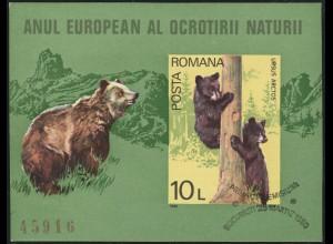 Block 168 Braunbären, Mitläufer-Ausgabe Rumänien 1980, SSt
