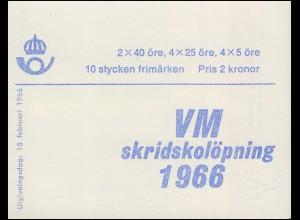 Markenheftchen 10I Eisschnelllauf-WM (Deckelinschrift schwedisch) , **