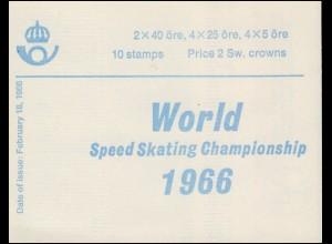 Markenheftchen 10II Eisschnelllauf-WM (Deckelinschrift englisch) , **