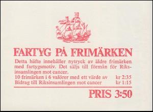 Markenheftchen 14 Schiffe - Schwedische Flotte, **