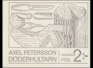 Markenheftchen 19 Künstler Axel Petersson, genannt Döderhultarn, **