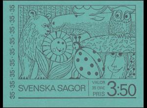 Markenheftchen 23 Schwedische Kunstmärchen, mit spiegelverk. FN 2, ** postfrisch