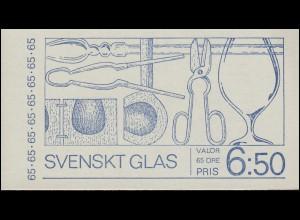 Markenheftchen 32 Schwedisches Glas, **