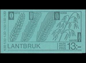 Markenheftchen 72 Landwirtschaft, **