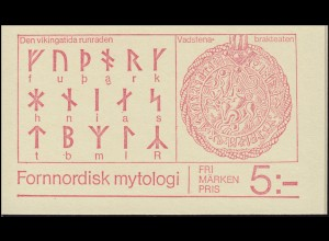 Markenheftchen 81 Nordische Mythologie - Donar Heimdall Freyer Frija Odin, **