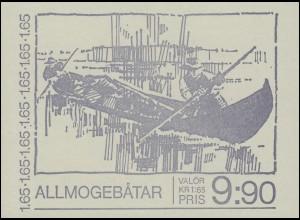 Markenheftchen 83 Boote traditioneller Bauart - Seegelboote, **