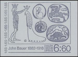 Markenheftchen 86 Maler und Illustrator John Bauer - Märchenillustrationen, **