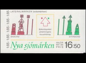 Markenheftchen 88 Seezeichen des neuen internationalen Seezeichensystems, **