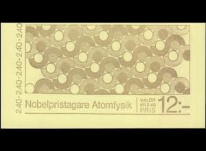 Markenheftchen 91 Nobelpreisträger für Atomphysik, **