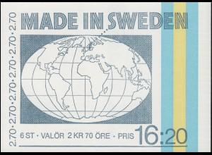 Markenheftchen 99 Schwedische Technik, **