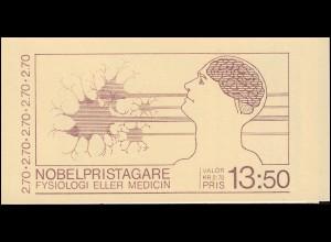 Markenheftchen 103 Nobelpreisträger für Physiologie und Medizin, **
