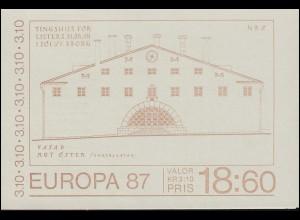 Markenheftchen 120 Europa / CEPT - Moderne Architektur, **