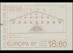 Markenheftchen 120 Europa / CEPT - Moderne Architektur, mit ZB **