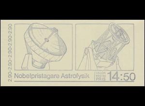 Markenheftchen 127 Nobelpreisträger für Astrophysik, **