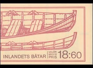 Markenheftchen 128 Boote traditioneller Bauart, mit FN 1 **