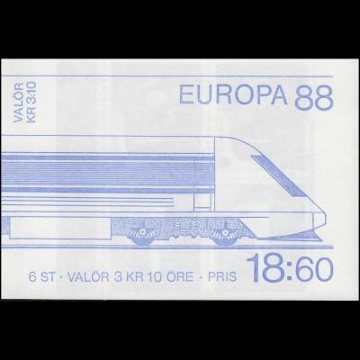 Markenheftchen 133 Europa / CEPT - Transport- und Kommunikationsmittel, **