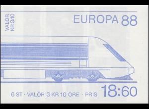 Markenheftchen 133 Europa / CEPT Transport- und Kommunikationsmittel mit FN 1 **