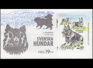 Markenheftchen 144 Schwedische Hunderassen Dogs Hundar, mit BZN **