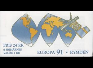 Markenheftchen 159 Europa / CEPT - Europäische Weltraumfahrt, **
