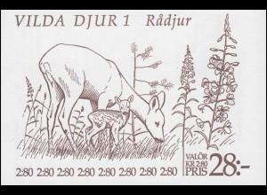 Markenheftchen 167 Wildtiere: Rehe, **