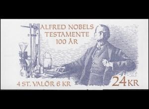 Markenheftchen 210 Alfred-Nobel-Testament, **