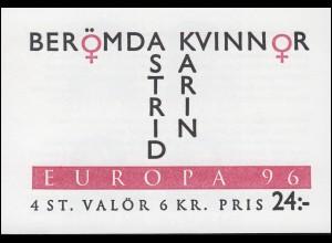 Markenheftchen 215 Europa / CEPT - Berühmte Frauen, **