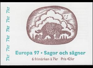 Markenheftchen 228 Europa / CEPT - Sagen und Legenden, **