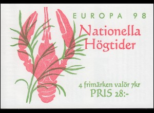 Markenheftchen 242 Europa / CEPT - Nationale Feste und Feiertage, **